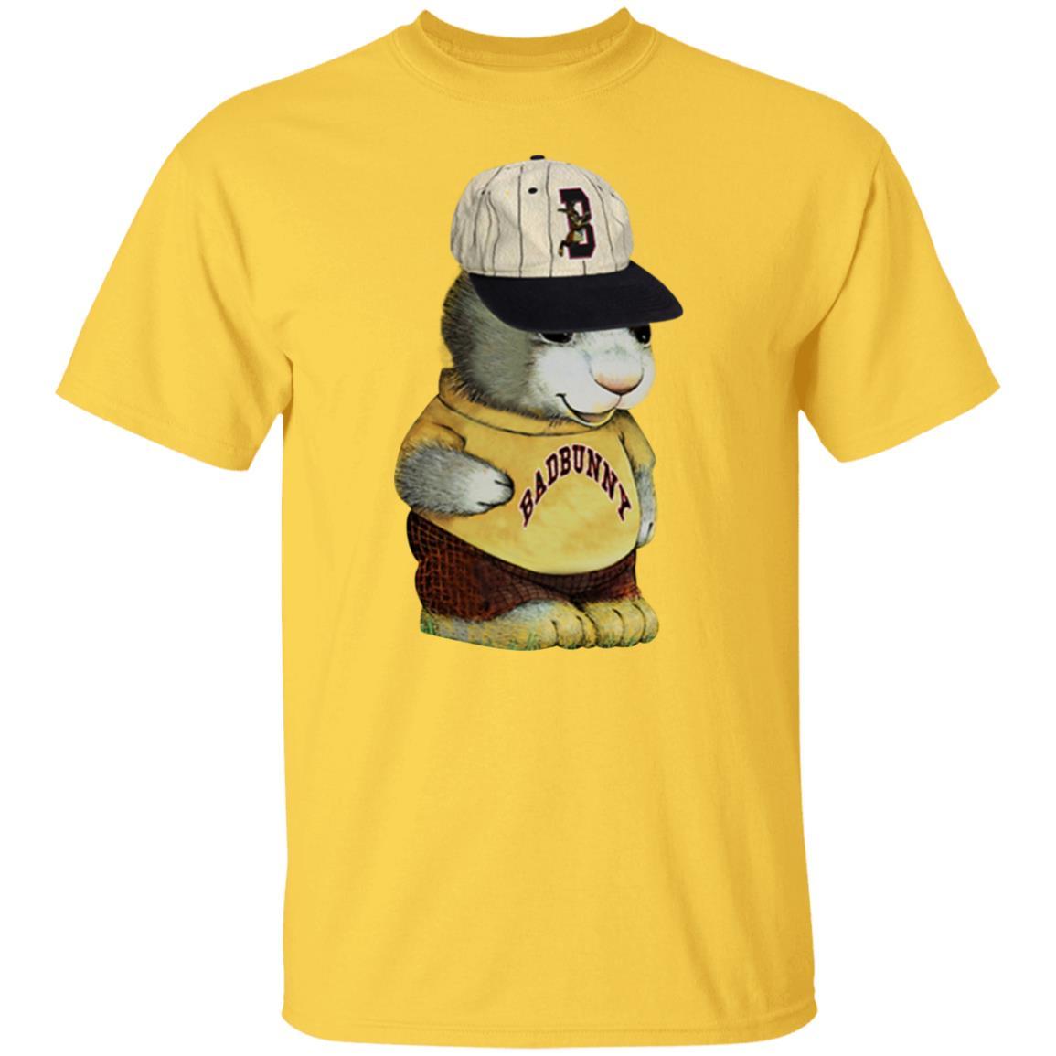 Badbunny Las Que No Iban A Salir Bunny Tee Yellow T Shirt Funny Whiskey Shirt