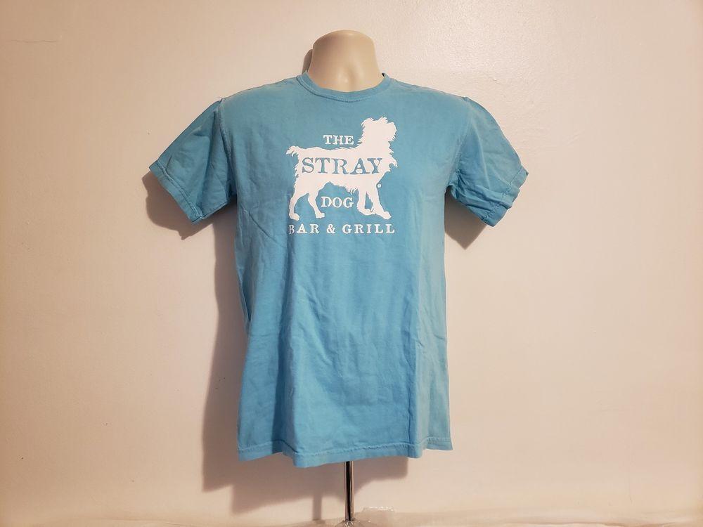 Baitunstore The Stray Dog Bar Grill New Buffalo Michigan Adult Blue T Shirt 1822 353040058285247647