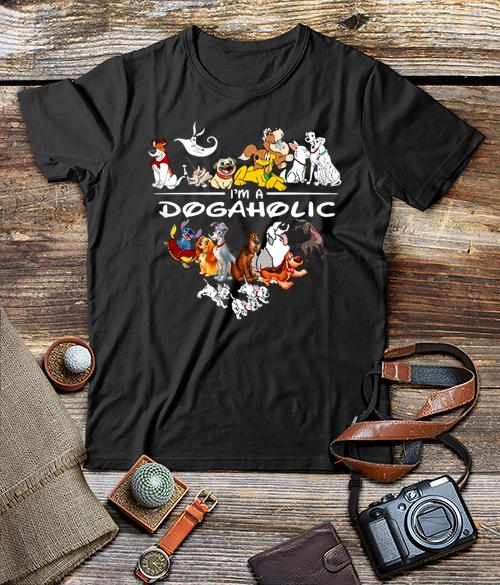 Disney Dogs I M A Dogaholic Unisex Classic Shirt