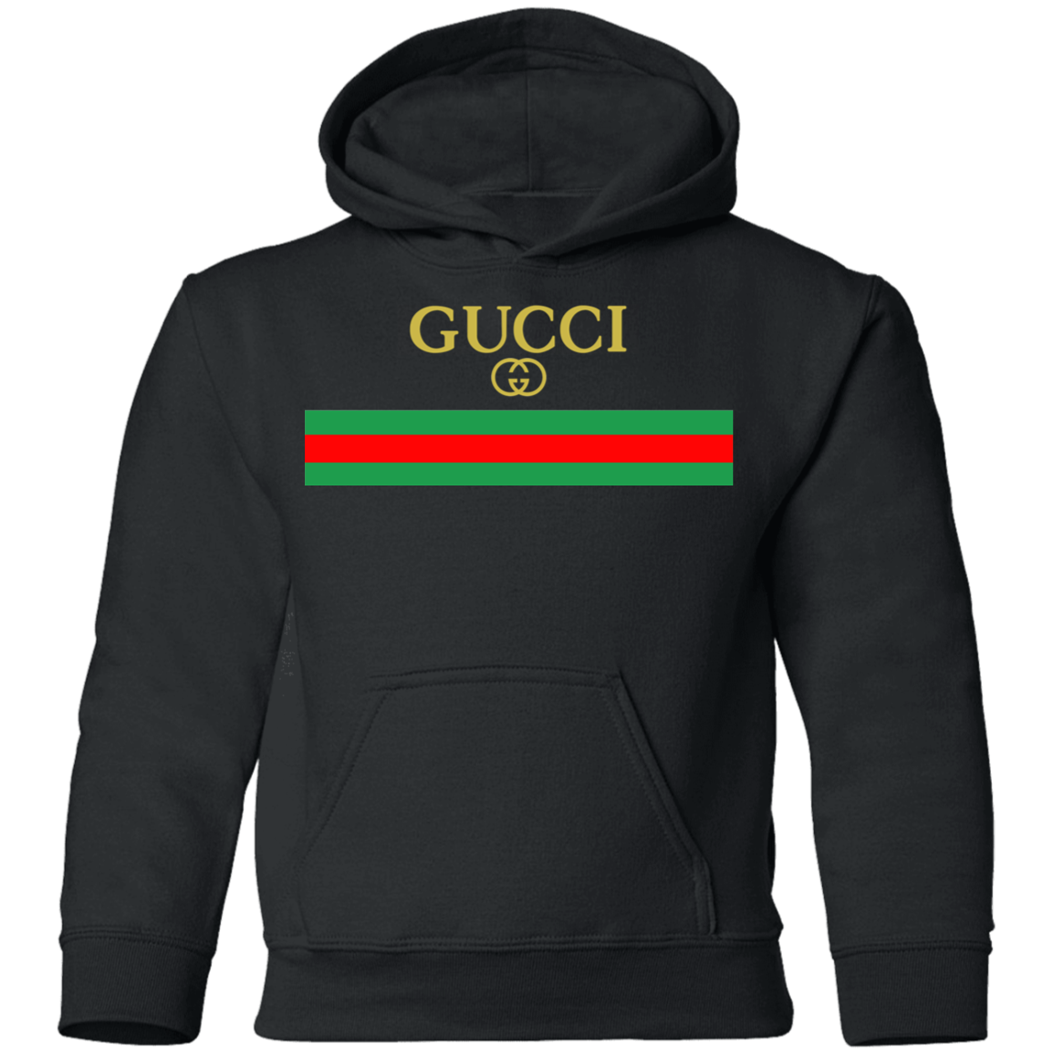 Gucci Logo Vintage Inspired Shirt Youth Pullover Hoodie