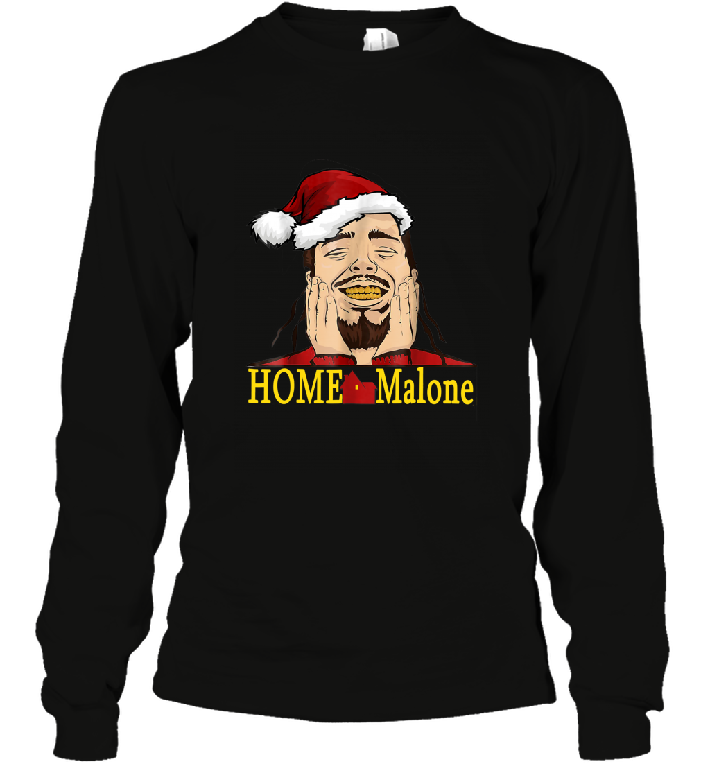 Home Malone Shirt Post Malone Christmas Long Sleeve T-shirt