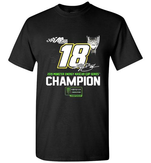 Kyle Busch 2019 Monster Energy Nascar Cup Series Champion Signature Shirt 911669659
