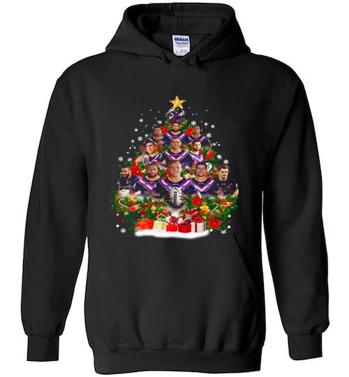 Christmas Trees Melbourne: Melbourne Storm Players Christmas Tree Hoodie 1785218373