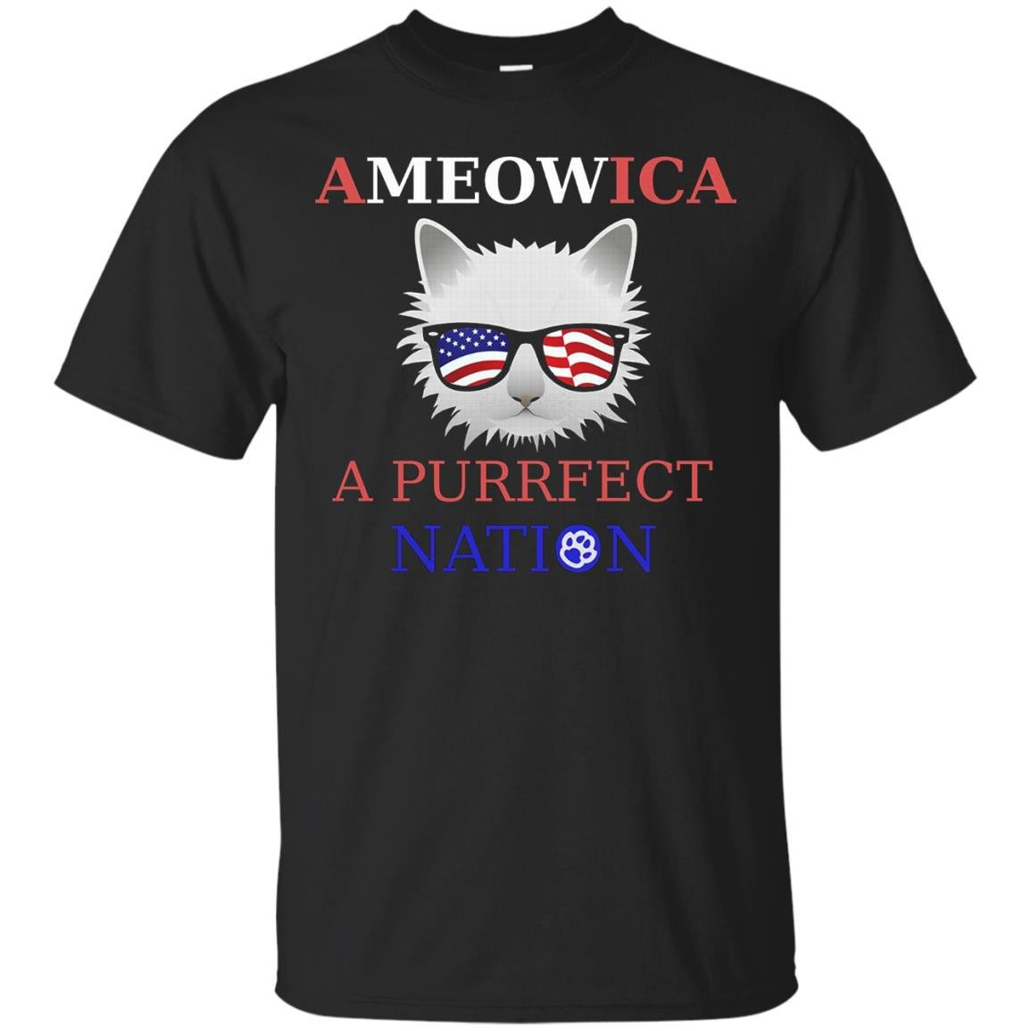 'meowica Shirt – Funny Ca S – Fourth Of July Shirt 4th – T Shirt