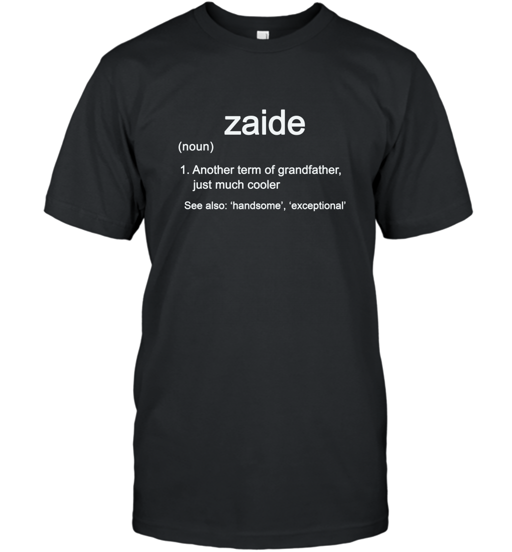 Zaide Definition Funny Grandfather Long Sleeve Gift Shirt T-shirt